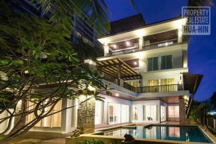 Beach Front House For Sale in Hua Hin With Five Floors Walk To The Beach